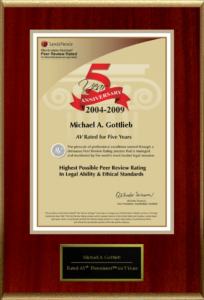 Broward County Criminal Lawyer - AV rated for five years
