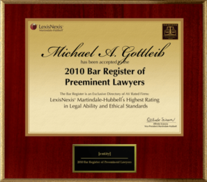 Top Broward Criminal Lawyer - Bar Register Preeminent Lawyers award