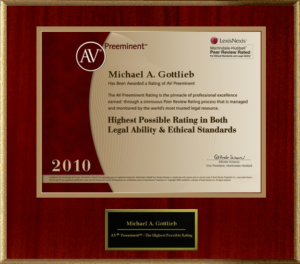 Broward Defense Lawyer - AV by Martindale-Hubbell award