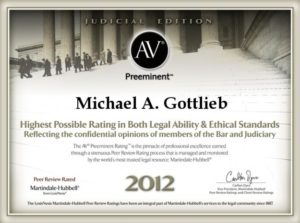 Fort Lauderdale Criminal Lawyer - AV Preeminent 2012 rating