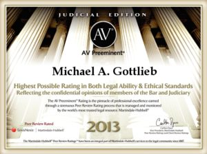 Premier Broward Criminal Lawyer - AV Preeminent 2013 award