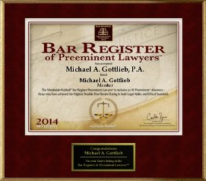 Best Criminal Defense Lawyer - 2014 Bar Register award