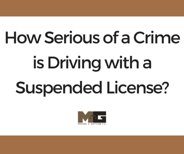 How Serious of a Crime is Driving with a Suspended License_