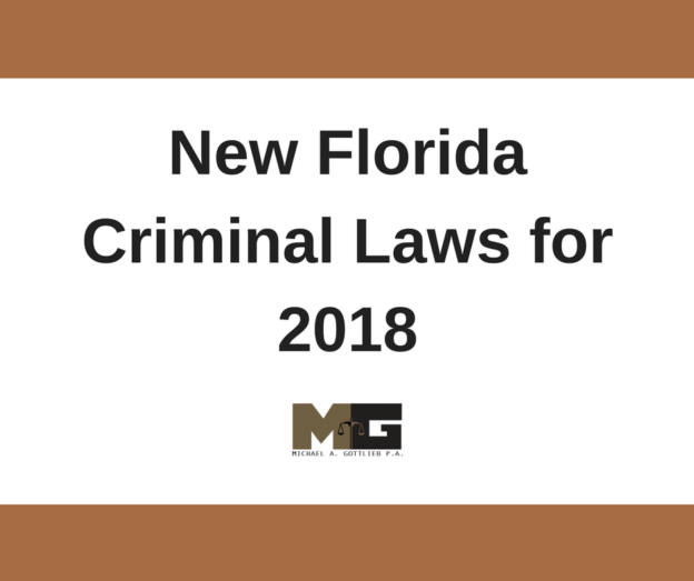 Florida Criminal Laws 2018
